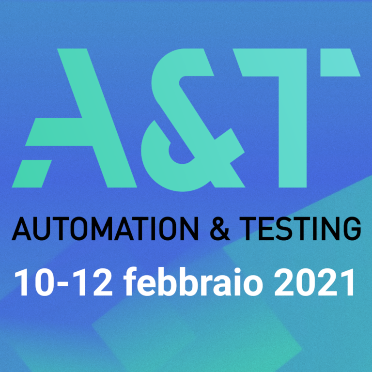 A&T 2021 fiera online Automation & Testing